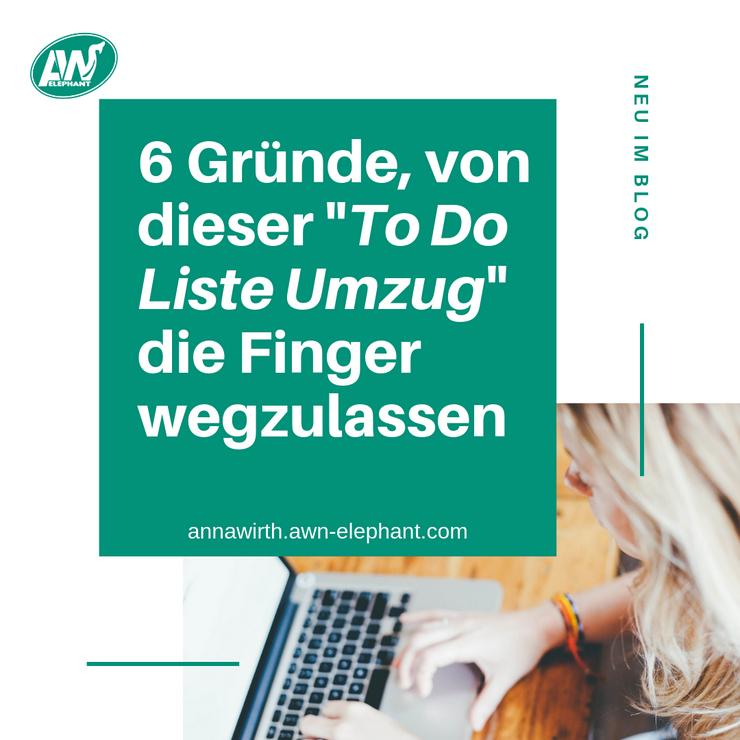 """6 Gründe, von dieser """"TO DO LISTE UMZUG"""" die Finger wegzulassen"""
