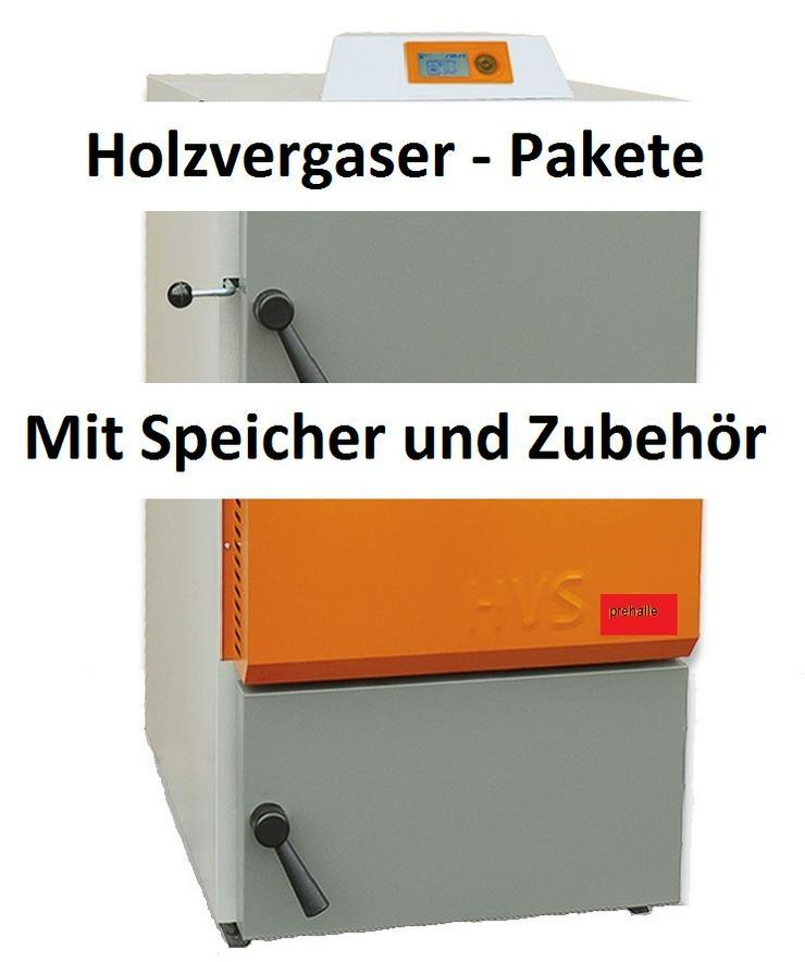 Holzvergaser HVS 40 E Solarbayer + 3 St. 1000 SLS Pufferspeicher - Holz- & Pelletheizung - Bild 1