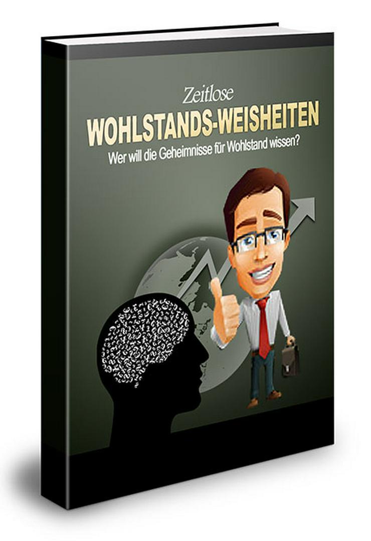 """ebook """"Zeitlose Wohlstands Weisheiten"""" PLR Komplett Paket"""
