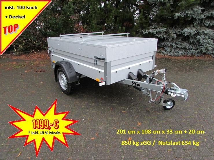 STEMA Anhänger 850 kg inkl. Deckel und 100 km/h