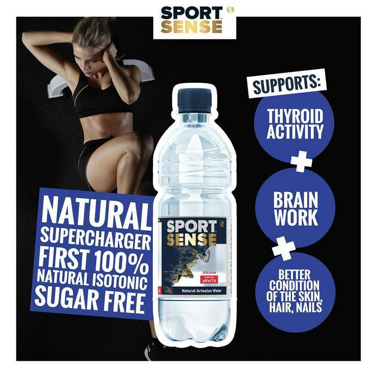 Bild 2: SPORT SENSE Natural Isotonic / Natürlich Alkalisches Artesisches Wasser