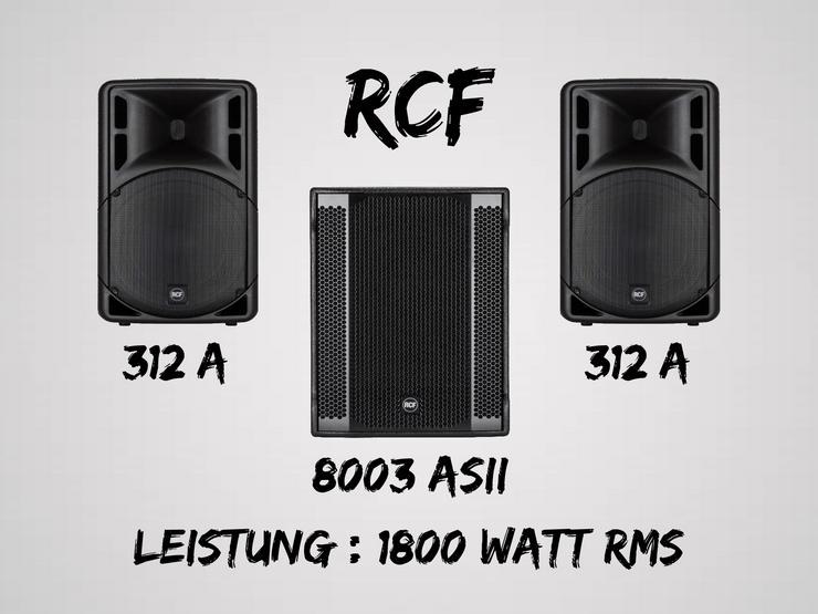 Party / Pa Anlage / Musikanlage / Lautsprecher mieten / RCF Anlage