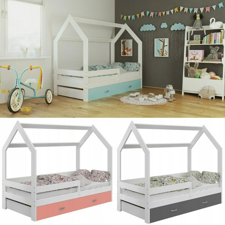 Bett Babybett Kinderbett Hausbett + Lattenrost + Schublade