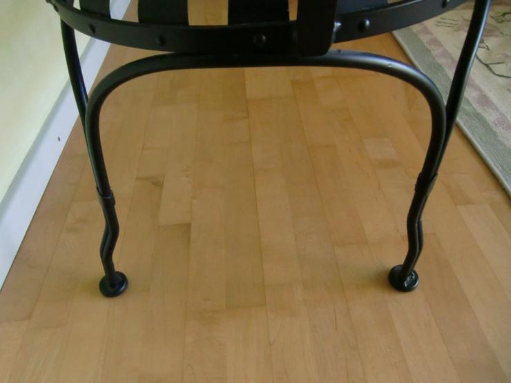 Bild 6: Gartenbank schwarz Stahl 2-Sitzer Love Seat für drinnen & draußen - Carré -