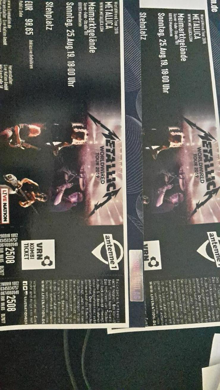 2 Metallica Tickets 25.08.2019 Mannheim