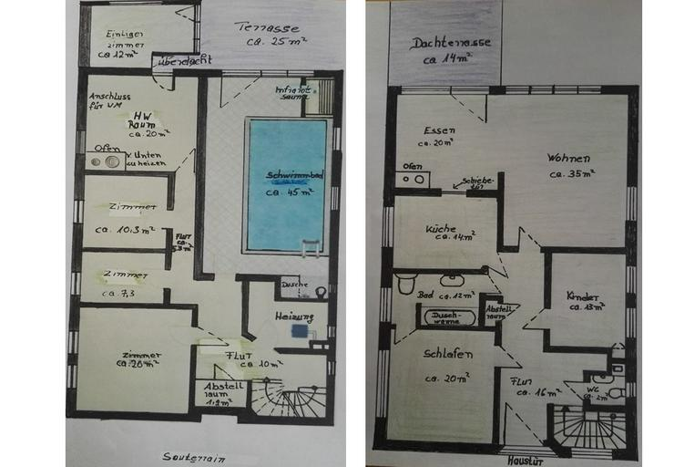 Bild 2: Schwimmbad im 6,5 Zimmerhaus PROVISIONSFREI zu verkaufen ab 399.000 €