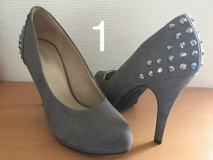 Damen Schuhe,Pumps,Clogs,Holz Latschen,gebraucht jedoch neuwertig und neu. - Größe 38 - Bild 1