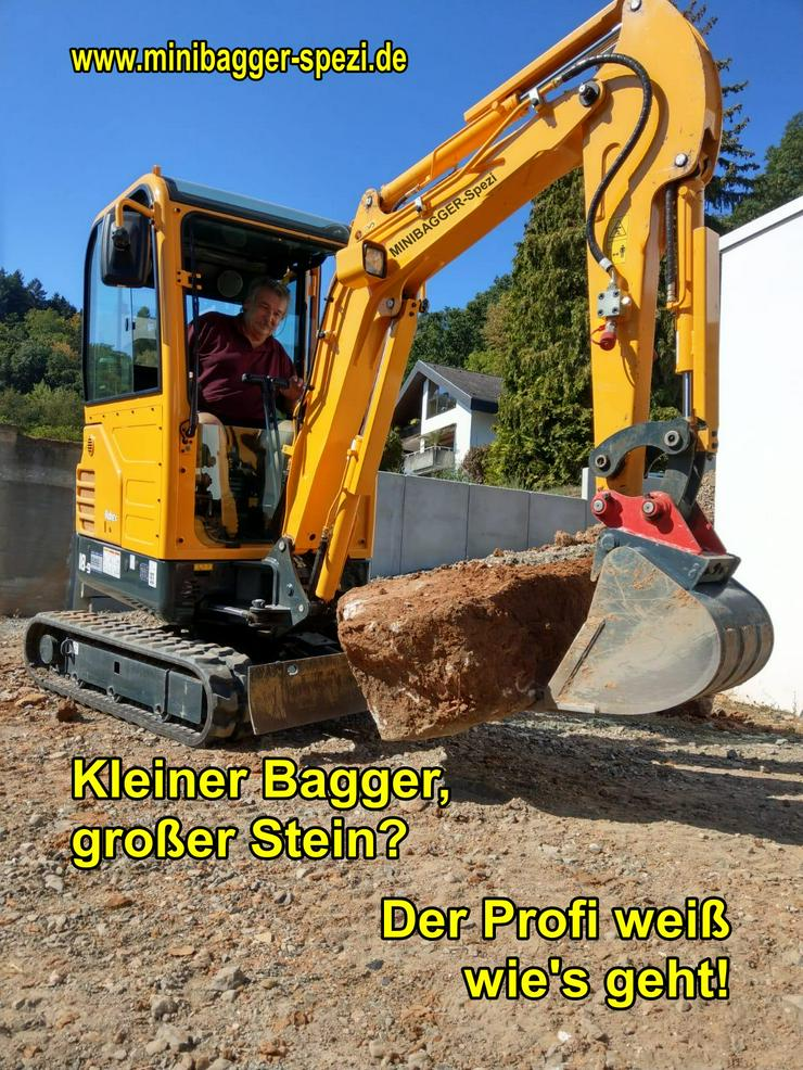 Bild 2: Minibagger mit und ohne Fahrer zu Miete ~~  Minibagger-Spezi  ~~