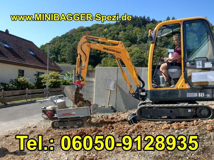 Minibagger mit und ohne Fahrer zu Miete ~~  Minibagger-Spezi  ~~ - Gartenarbeiten - Bild 1