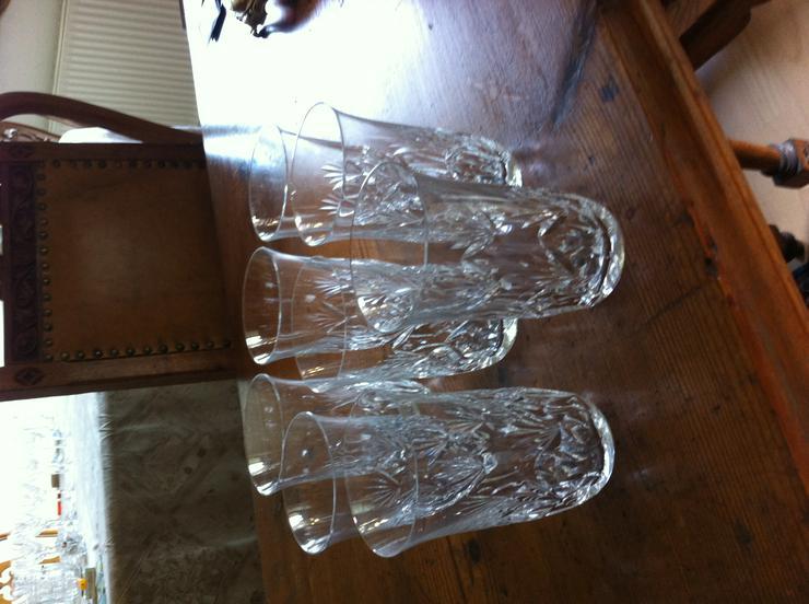 Kristallglas geschliffen Wassergläser