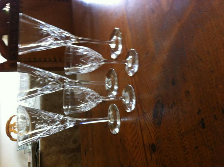 Kristallglas geschliffen Sekt und Likör