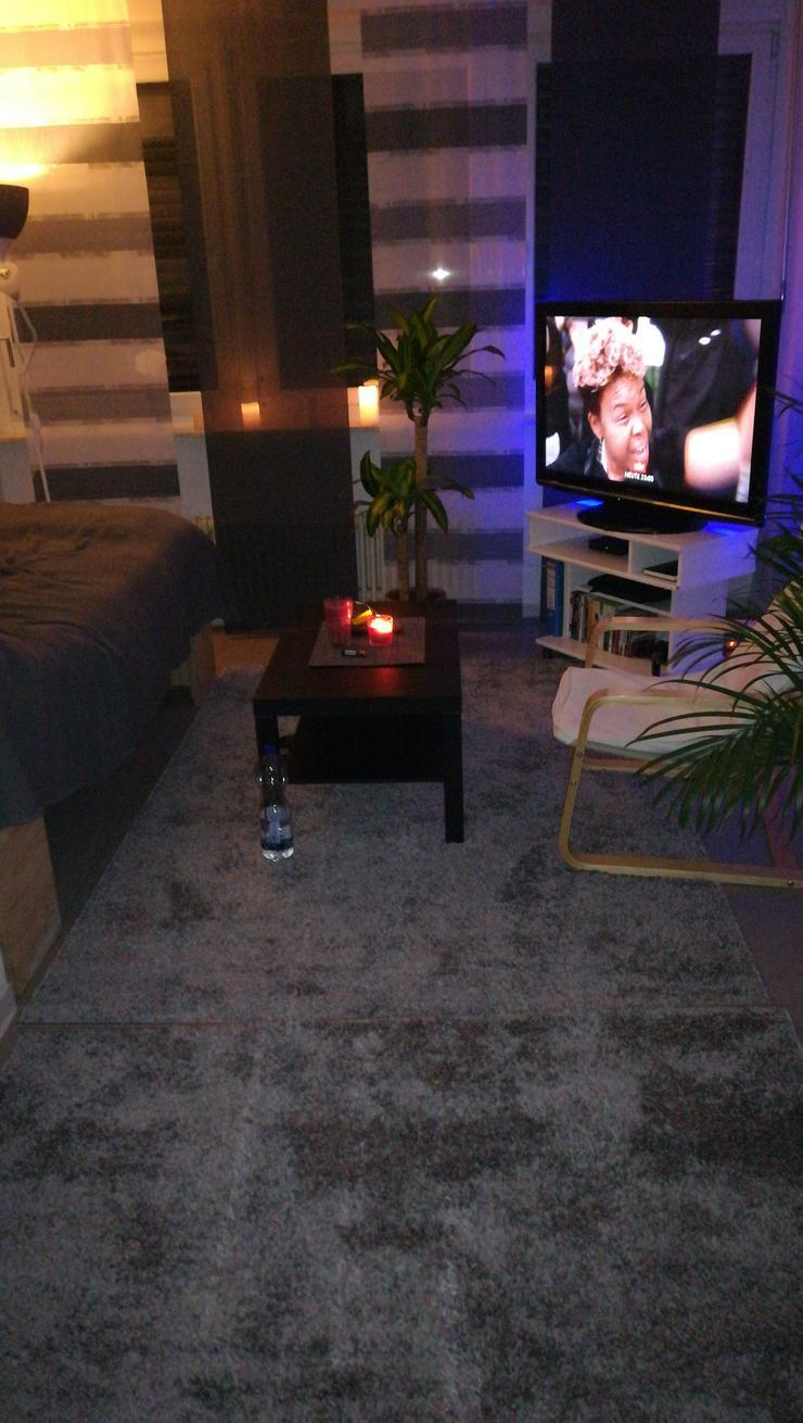 1 grauer Teppich, Zustand wie neu, zu verkaufen!