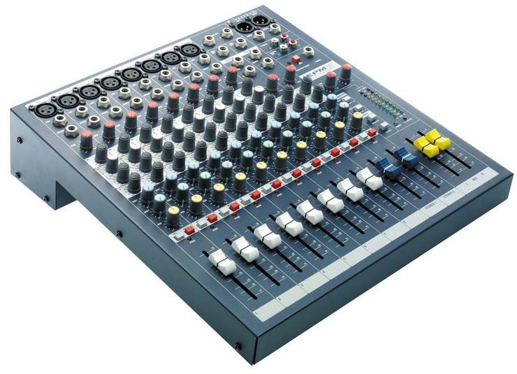 Verleih Soundcraft EPM 8 Kompaktmischpult I DJ Mixer I Mischpult
