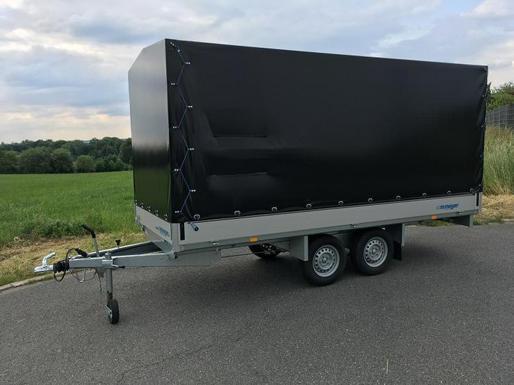 Bild 2: WM – Meyer 2000 kg Anhänger Hochlader in 410 cm mit Hochplane