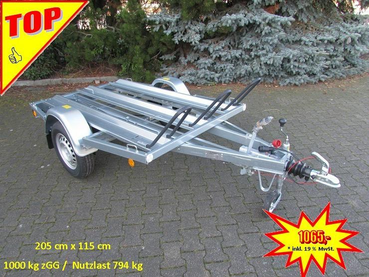 Lagerbestand: BÖCKMANN – TPV  Motorradanhänger 1000 kg NEU