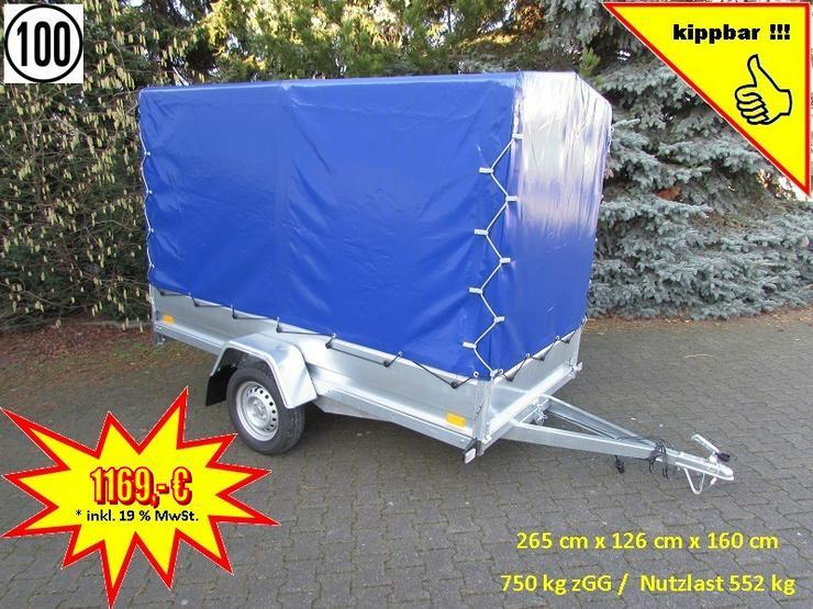 BLYSS Anhänger 750kg in 265 cm mit Hochplane – kippbar