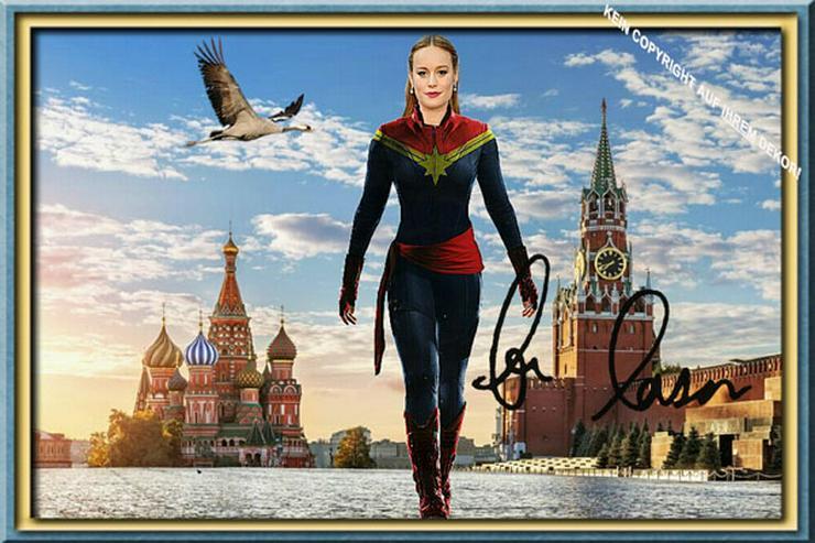 BRIE LARSON Moskau Souvenir Deko Design Selfie Geschenk Wandbild