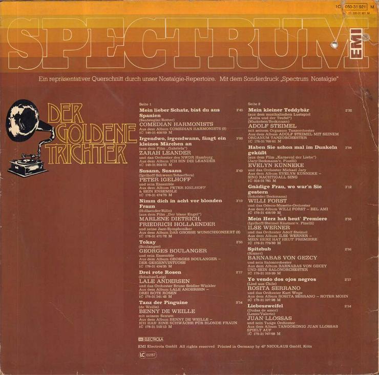 Bild 2: Schallplatte Vinyl 12'' LP - Der goldene Trichter (2)