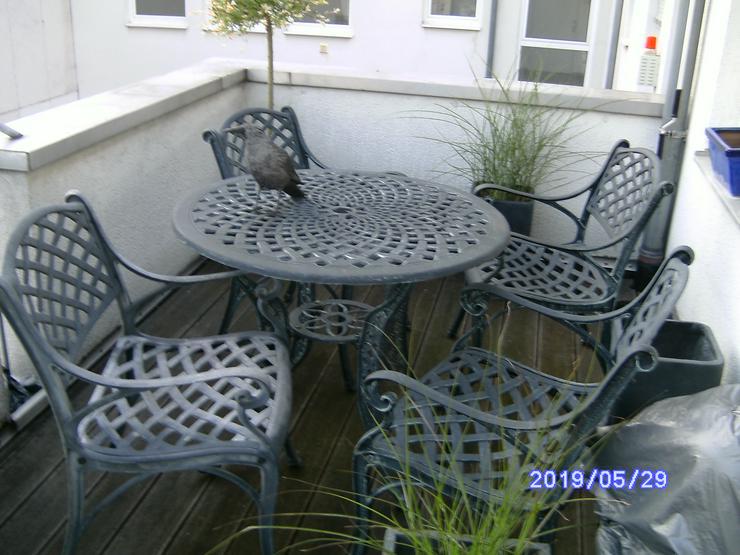 Garnitur Metall massiv, für Garten Balkon oder Terasse