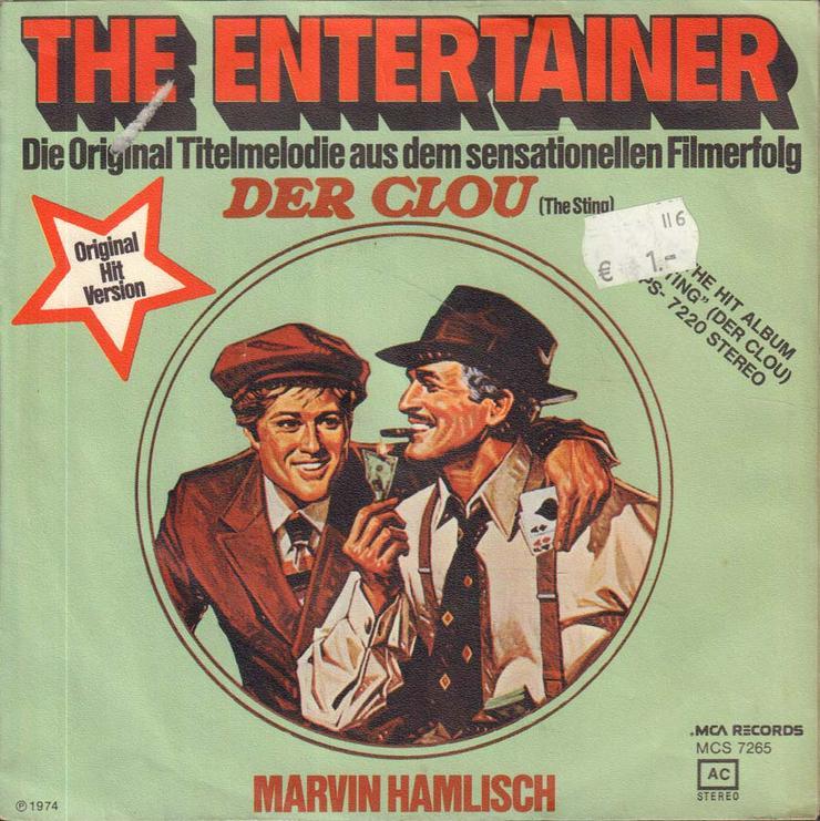 Bild 2: Schallplatte Vinyl 7'' Single - Filmmusik aus Der Clou - The Enterainer / Solace