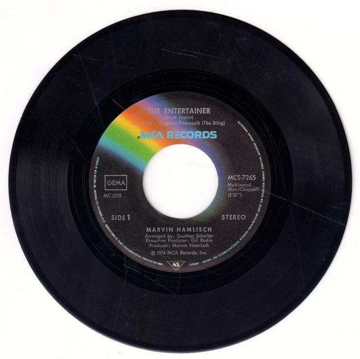 Bild 3: Schallplatte Vinyl 7'' Single - Filmmusik aus Der Clou - The Enterainer / Solace