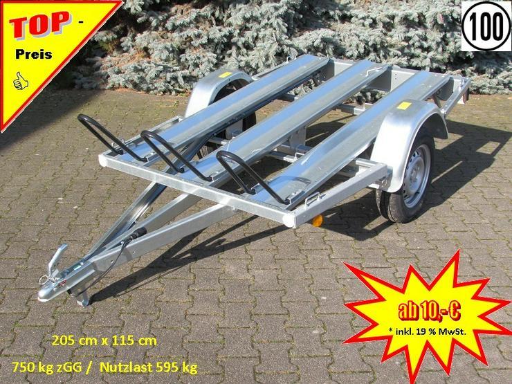 Anhängerverleih Motorradanhänger 750 kg Anhängervermietung ab - Vermietung & Verleih - Bild 1