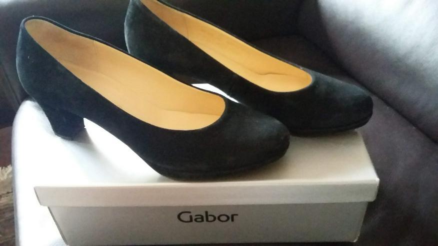 Gabor Pumps samtchevreau schwarz Gr 39