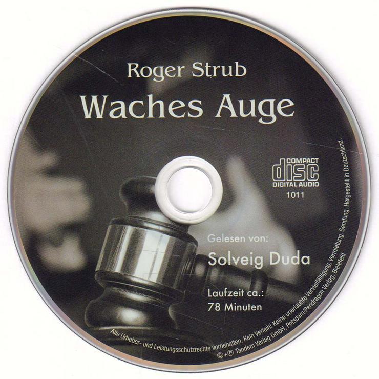 Hörbuch 1 CD - Waches Auge - von Roger Strub - Laufzeit ca. 78 min