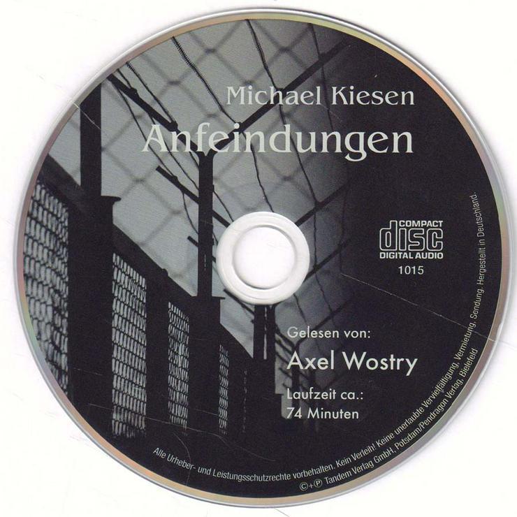 Hörbuch 1 CD - Anfeindungen - von Michael Kiesen - Laufzeit ca. 74 min