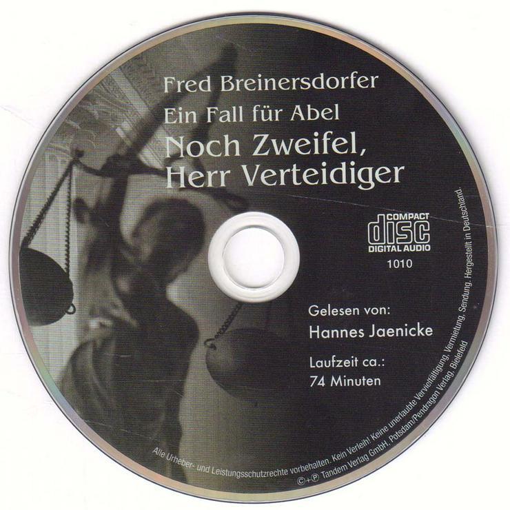Hörbuch 1 CD - Ein Fall für Abel  / Noch Zweifel, Herr Verteidiger - ca. 74 min