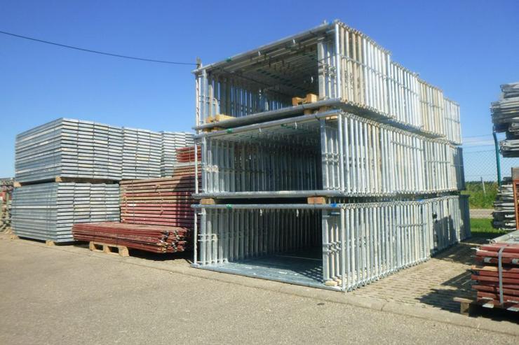 3.000qm Fassadengerüst MJ Uni 70 Stahlgerüst Baugerüst Wandgerüst Rüstung Scaffolding