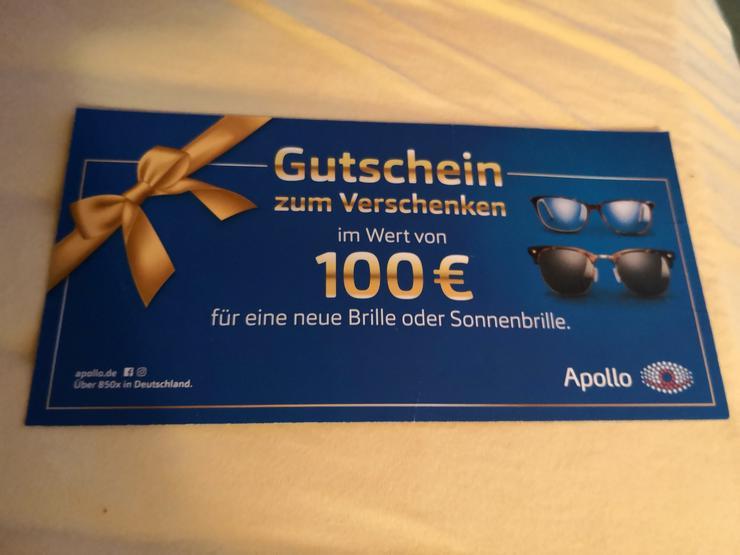 Apollo Optik 100 Euro Gutschein - Brillen & Kontaktlinsen - Bild 1