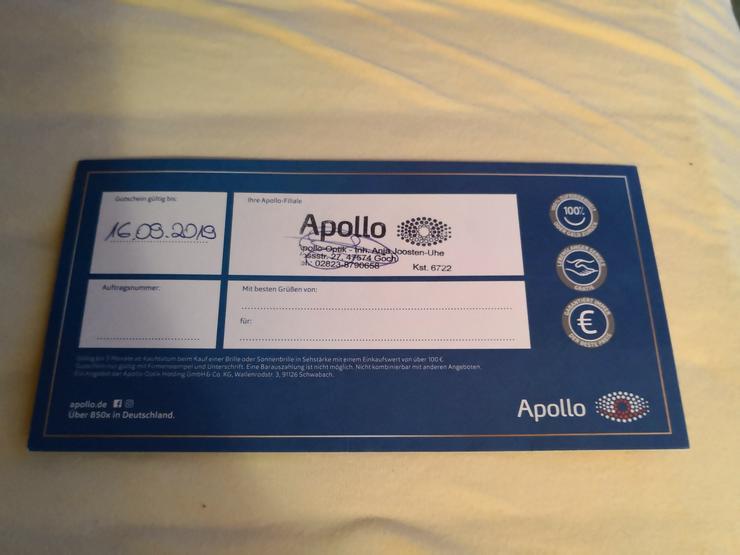 Bild 2: Apollo Optik 100 Euro Gutschein