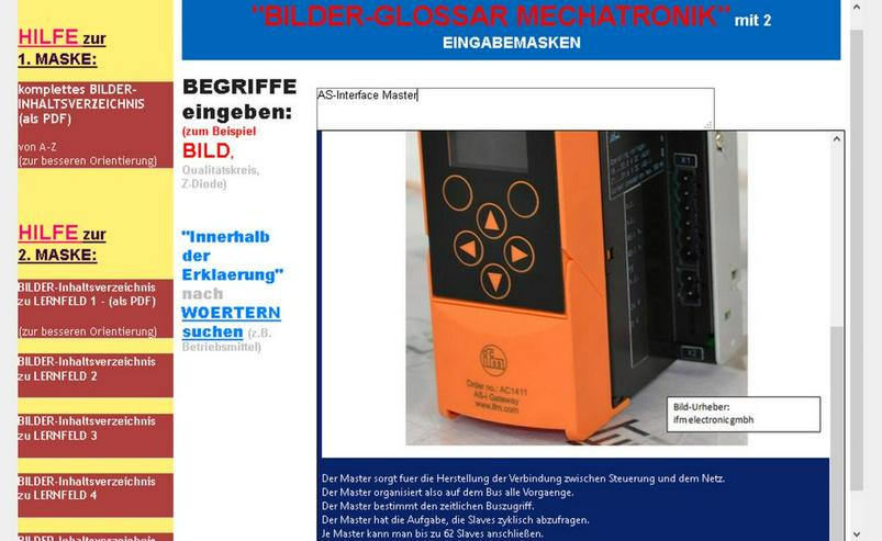 Mechatronik-Kompendium: Begriffe + Bilder nachschlagen