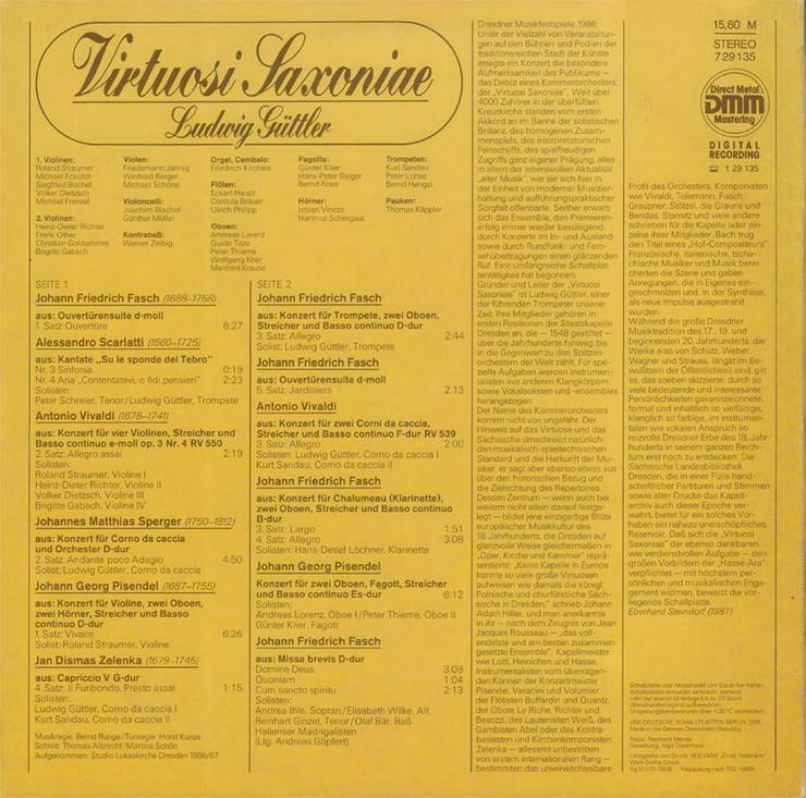 Bild 2: Schallplatte Vinyl 12'' LP - Virtuosi Saxoniae - Ludwig Güttler