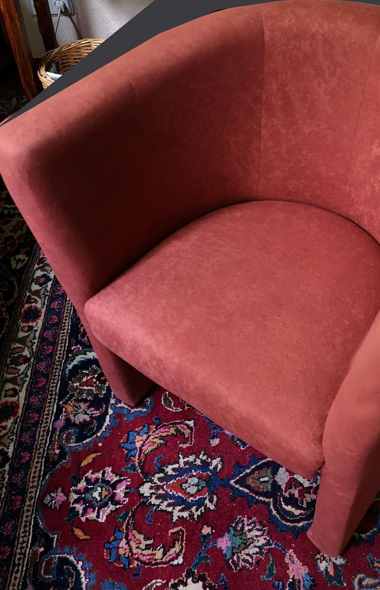 2  gepolsterte Clubsessel Farbe rostbaraun, fast neuwertig - Sofas & Sitzmöbel - Bild 1