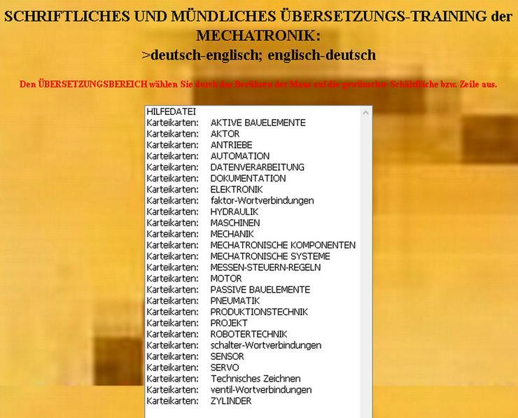 Bild 3: Karteikarten-Vokabeltrainer fuer Mechatroniker deutsch-englisch