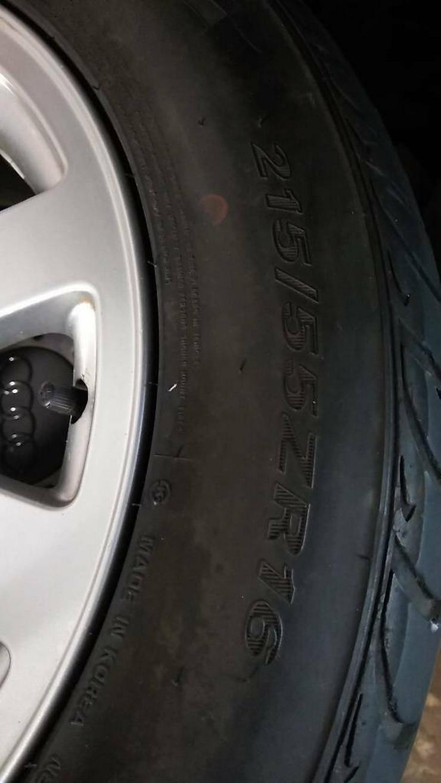 Bild 2: Audi A 6 Alufelgen 7J x16 ET 45 mit 215/55 ZR16 Reifen