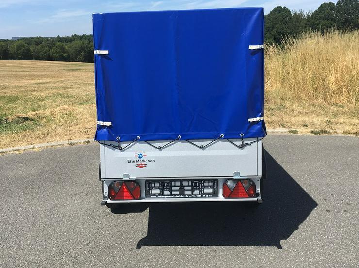 Bild 4: BÖCKMANN – TPV Anhänger inkl. Hochplane blau und 100 km/h