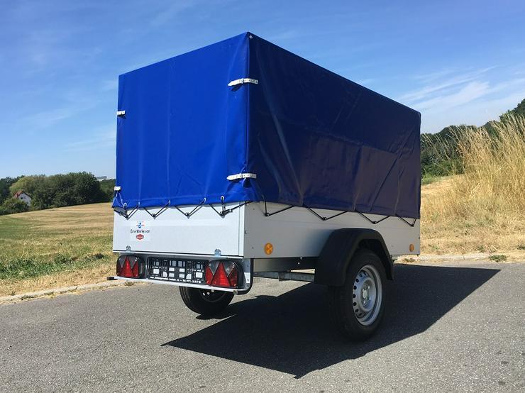 Bild 3: BÖCKMANN – TPV Anhänger inkl. Hochplane blau und 100 km/h