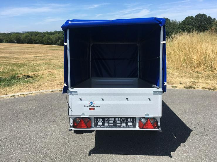 Bild 5: BÖCKMANN – TPV Anhänger inkl. Hochplane blau und 100 km/h