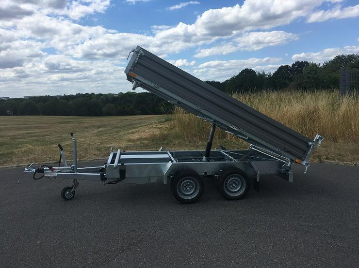Bild 5: Humbaur 3000 kg Dreiseitenkipper Stahl 314 x 175 cm mit E-Pumpe