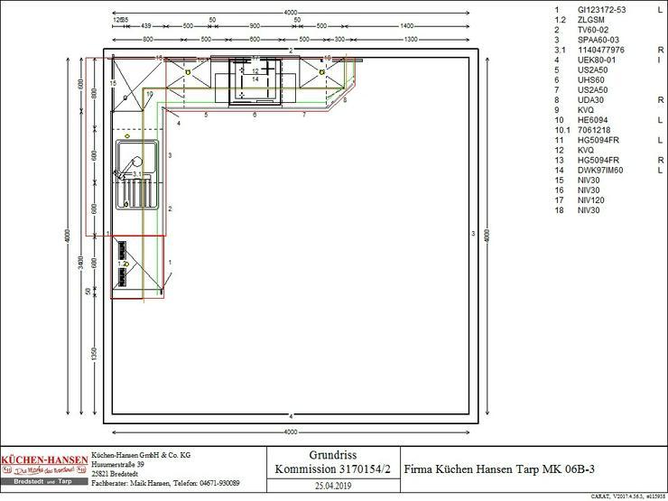 Müsterküche MKT06B-3 zum Abverkauf - Küche zum Top Preis
