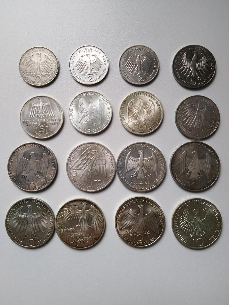 2, 5 und 10 Mark Münzen