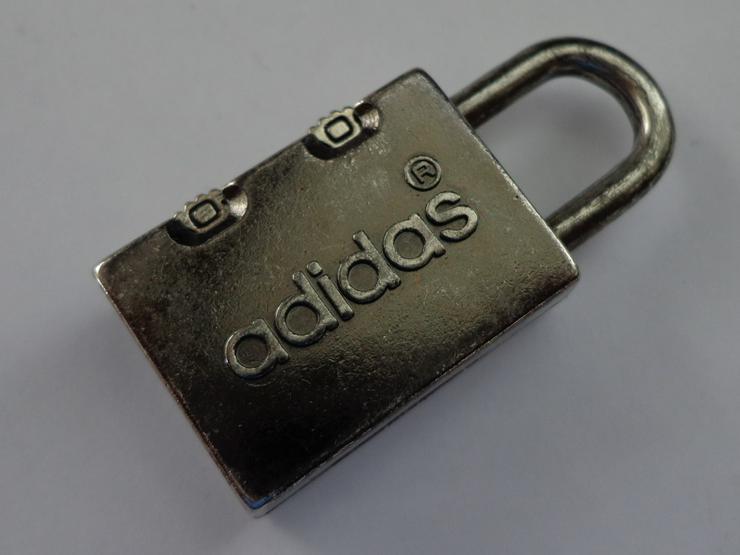 sehr seltenes und super-kleines adidas®-Vorhängeschloss/Vorhangschloss mit Zahlencode =NEU=