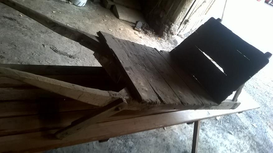Alte Holzkarre