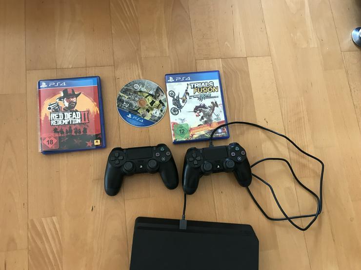 Bild 3: PS4 neuwertig 2 Controller 1TB 3 Spiele