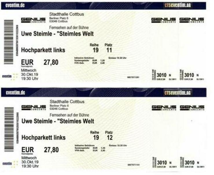 2 Eintrittskarten zu Steimles Welt - Comedy & Kabarett - Bild 1