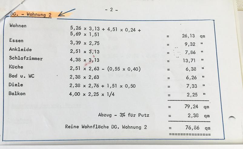 Bild 2: Schöne 3,5 Zimmer-Dachgeschoß-Wohnung, ca. 78 Quadratmeter in Balingen-Roßwangen zu verkaufen!