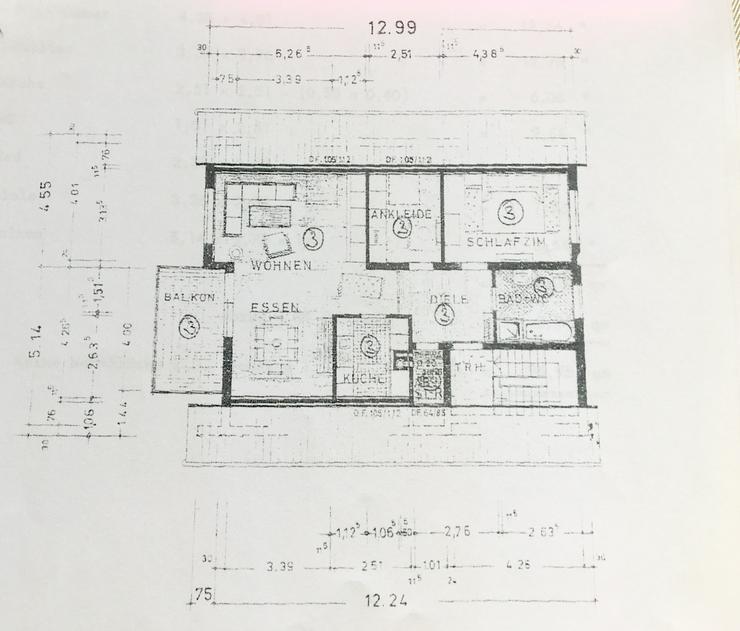Bild 3: Schöne 3,5 Zimmer-Dachgeschoß-Wohnung, ca. 78 Quadratmeter in Balingen-Roßwangen zu verkaufen!
